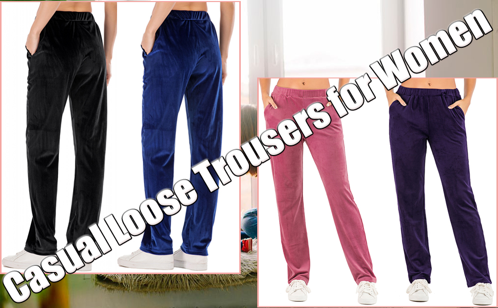 Casual Joggers Loose Trousers with Pockets