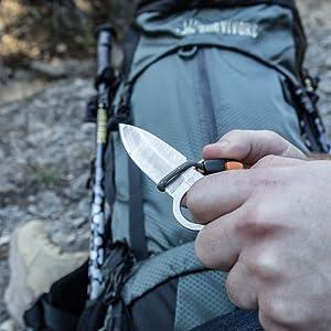 12 Survivors BKE Fixed Blade Knife with Sheath, Satin Finish