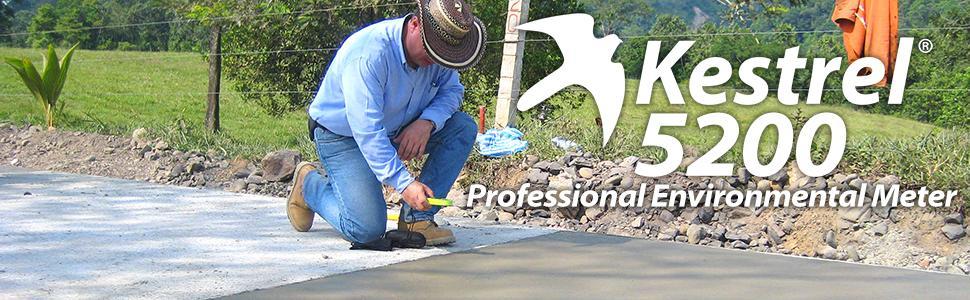 Kestrel 5200 Professional Environmental Meter, concrete, hvac