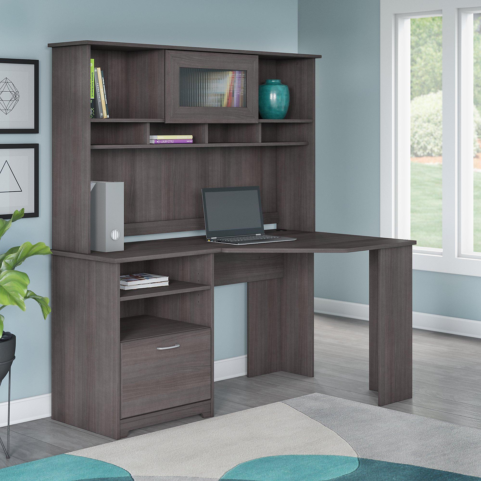 Amazon.com: Bush Furniture Cabot Corner Desk With Hutch In