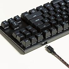 Reliable CHERRY MX mechanical keyswitches. Supreme portability