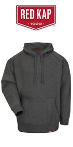 Red Kap Mens Blended Duck Zip Front Hooded Jacket