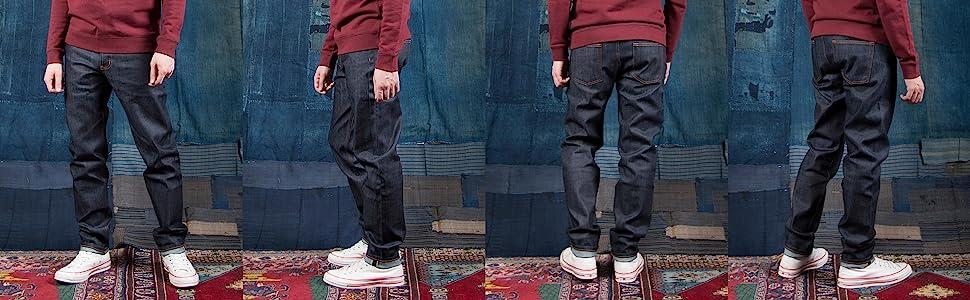 Naked & Famous Denim Weird Guy Slim Fit Raw Jeans (Stretch