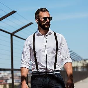 san francisco, man, black, earphones, sunglasses, fence, lifestyle, photo