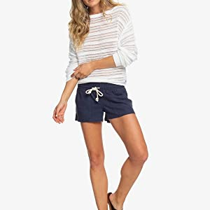 roxy, beach shorts, linen shorts, oceanside, coverup, billabong, rvca, pull on shorts