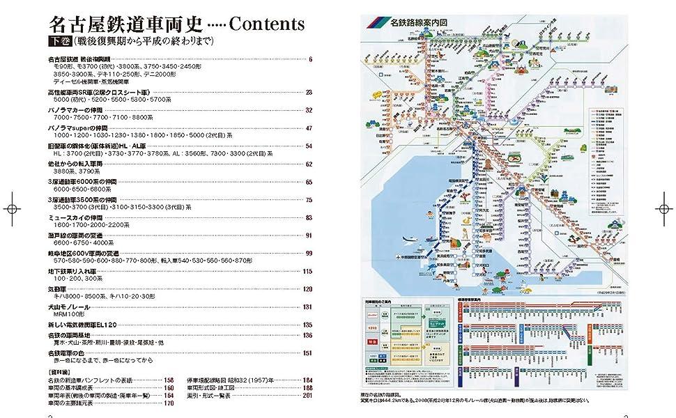 名古屋鉄道 車両 路線図