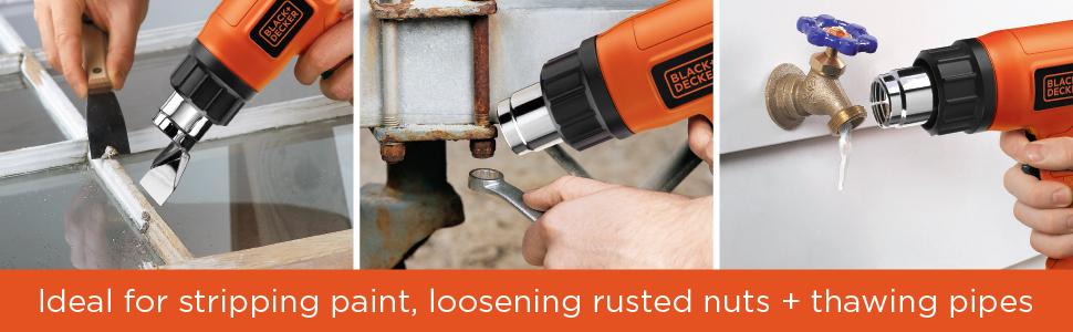 stripping paint heat gun, black + decker corded tools