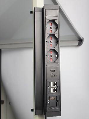 presa scomparsa da incasso tavolo multipresa scrivania a cucina torretta elettrica torrette con 3