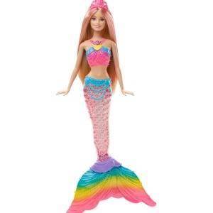 Barbie Sirena Arcobaleno Con Capelli Biondi Luci Colorate Si