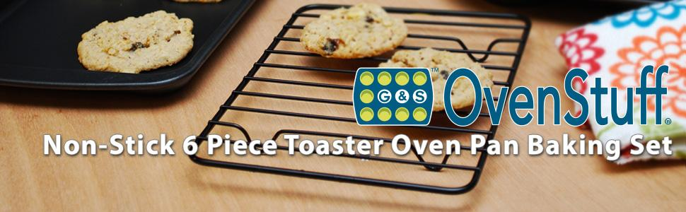 Amazon Com Ovenstuff Non Stick 6 Piece Toaster Oven