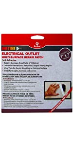 Red Devel Electrical Outlet Repair Patch