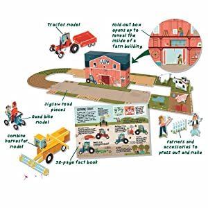 Busy Builders: Farm: Build 3D Farm Play Set 32-page Book Press-out Pieces 3D Fold-out Play Set