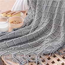 Bedsure Blanket for Couch, Knit Woven Blanket 3