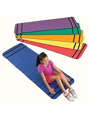 Amazon.com: Sportime Curl Up Yoga Mats, Assorted Colors, Set ...