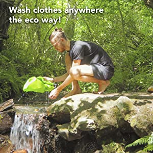 Wash clothes anywhere!