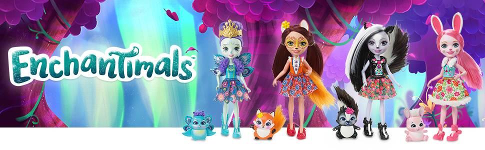 Muñecas Enchantimals con mascotas