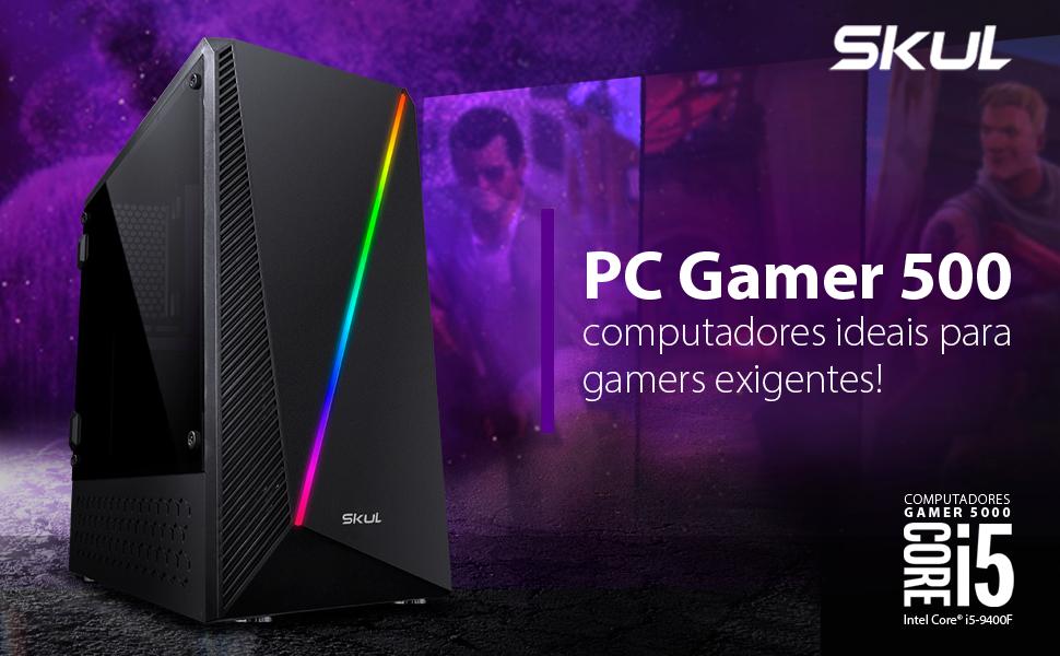 COMPUTADOR GAMER 5000 - CORE I5 9400F 2.9GHZ 9ª GER. MEM. 8GB DDR4 SSD 160GB HD 1TB