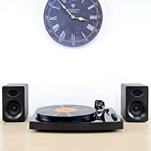 mbeat mb-tr518k turntable with speakers image