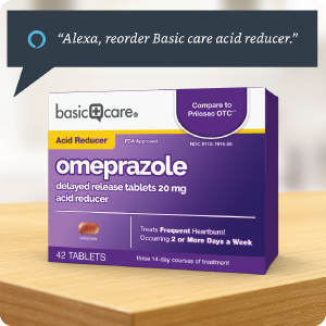 Alexa, reorder Basic Care acid reducer