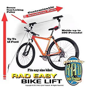 Rad Cycle Products Heavy Duty Bike Lift Hoist For