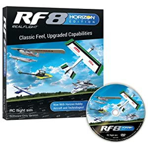 RealFlight 8 Horizon Hobby Edition Software Only Package with DVD unpackaged