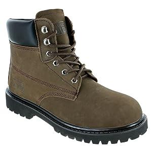 rugged blue, steel toe, waterproof, dark brown, rb1, boots, nubuck leather, nubuck,