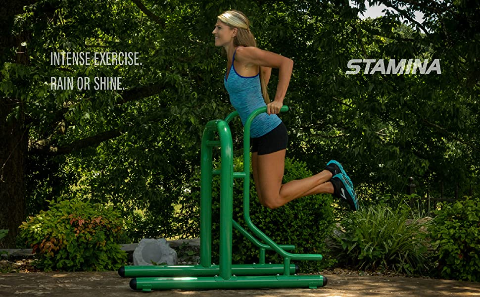 stamina outdoor fitness multi station gym