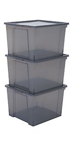 Boîtes de rangement en plastique Useful Storage Box par Iris Ohyama