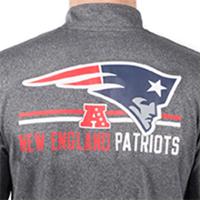 Icer Brands NFL Men's Quarter Zip Pullover Shirt Long Sleeve Tee Stay Dry Polyester Fabric