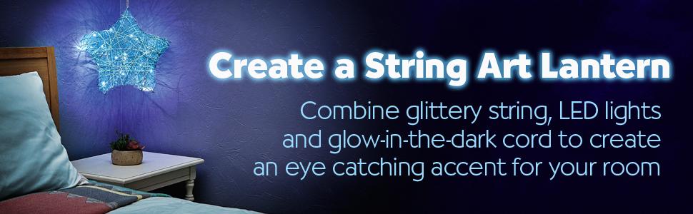 string art lantern, string art star light, string art for kids, string art