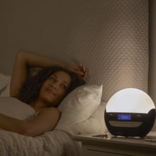 lumie bodyclock luxe 750D sunrise alarm clock wake up light natural dawn sounds daylight