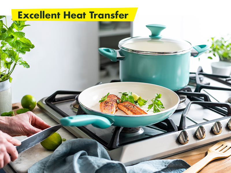 GreenPan, Rio, Healthy Ceramic Nonstick, Cookware set, stay cool, easy clean, glass lid, diamond