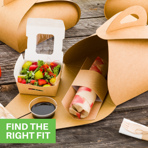 """""""These paper lunch boxes are available in a variety of sizes to fit all types of foods."""