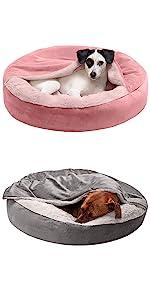 hooded; blanket; bagel; donut bed; dog bed; cat bed; pet bed