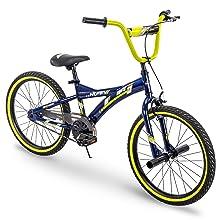 kid bike; boy bike;blue bike;pegs; bmx bike; yellow bike; 20 inch bike