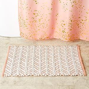 SKL Home Splatter Blush Pink Alanya Neutral Gold