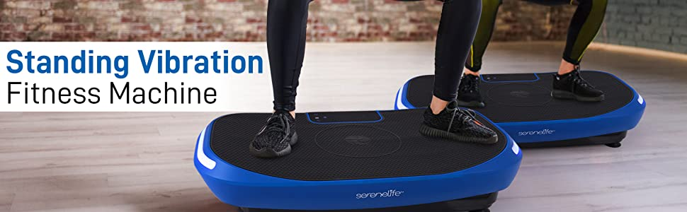 Standing 4D Vibration Plate Exercise Machine; Vibrating Platform Exercise Passive Workout Trainer