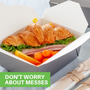 These disposable take out food containers are leak-resistant, making them perfect for greasy foods.
