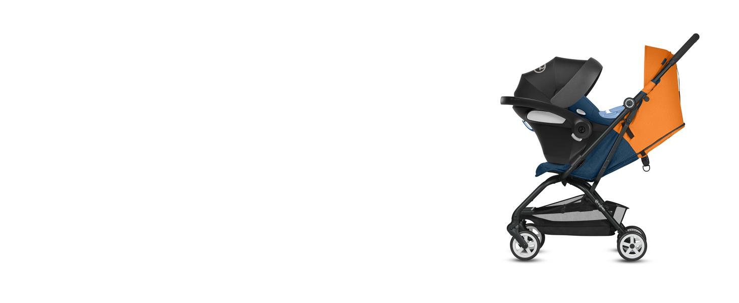 CYBEX - Silla de Paseo Eezy S, Plegable con una Mano, Ultracompacta y Ultraligera, desde los 6 Meses hasta 17 kg (aprox. 4 años), Colección denim, ...