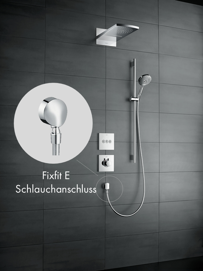 hansgrohe fixfit e schlauchanschluss mit r ckflussverhinderer chrom baumarkt. Black Bedroom Furniture Sets. Home Design Ideas