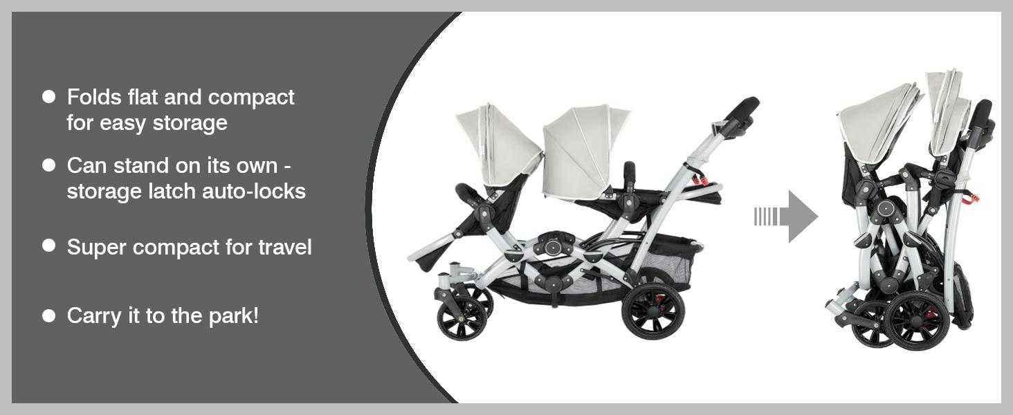strudy stroller for baby, Maneuverable stroller, Folds like a book stroller, track tandem stroller