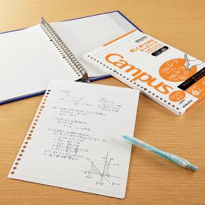 kokuyo コクヨ ルーズリーフ キャンパス campus バインダー ノート 替紙 替え紙 リフィル さらさら 書ける 書き心地 なめらか 滑らか 軽い 透けにくい 中性紙 オリジナル原紙