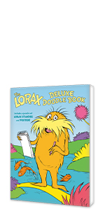 The Lorax Deluxe Doodle Book stickers kids coloring books