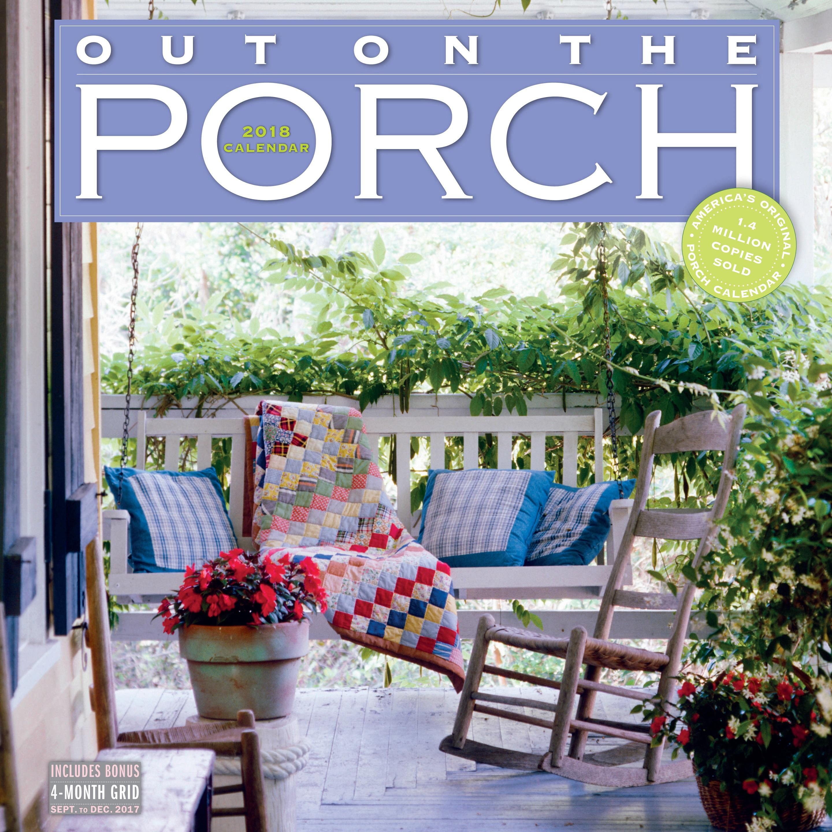Secret Garden: Out On The Porch Wall Calendar 2018: Workman Publishing