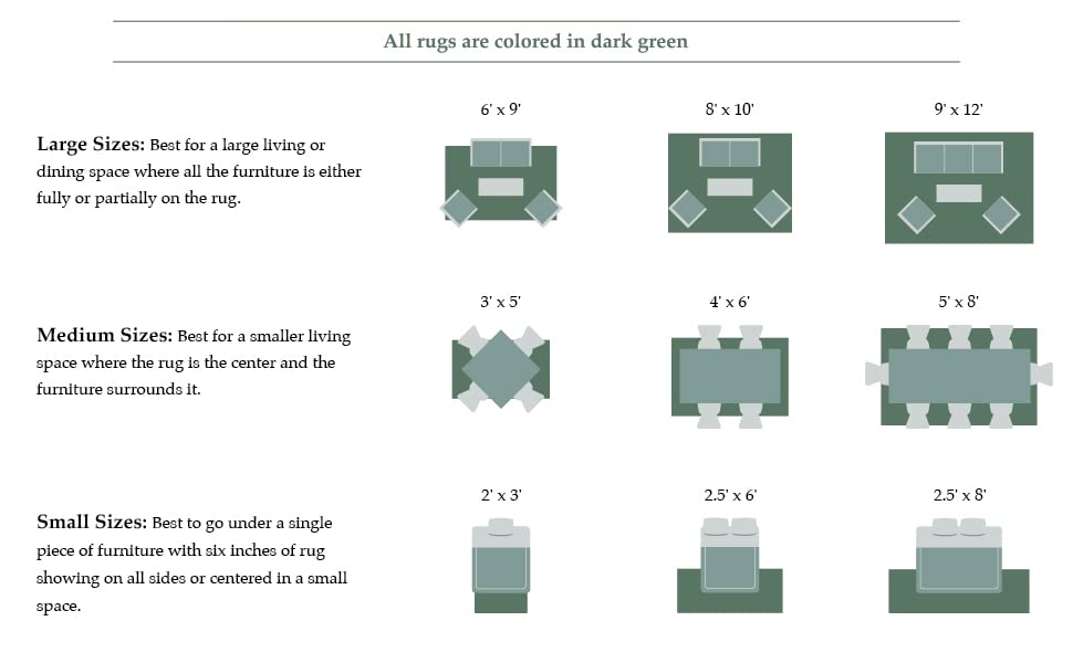 Rug sizing assistance large rugs medium rugs small rugs
