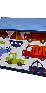"Bacati - Storage Tote (Toy Chest 14.5""L x 24""W x 15""H, Transportation)"