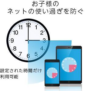 ペアレンタルコントロール機能でネット接続時間を制限可能