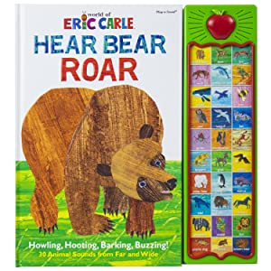 sound,book,toy,toys,picture,pi,kids,p,i,children,phoenix,international,publications,eric,carle,bear - World Of Eric Carle, Hear Bear Roar 30 Animal Sound Book - PI Kids (Play-A-Sound)