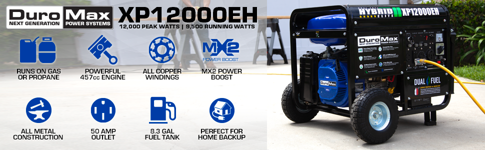 Duromax XP12000EH Outdoor Home Backup Generator