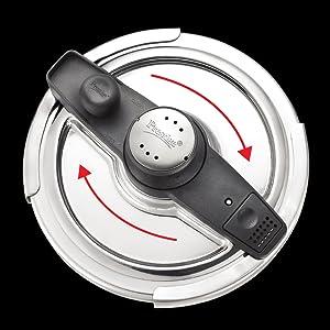 Prestige Svachh Clip-on Mini Hard Anodized 3 Litre Pressure Handi SPN-FOR1
